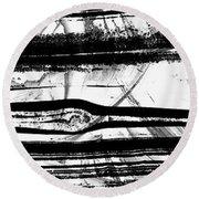 Black And White Art - Layers - Sharon Cummings Round Beach Towel