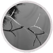 Black And White Bridge Round Beach Towel