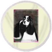 Black And White Cookie Round Beach Towel