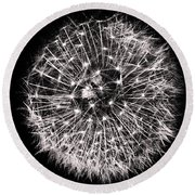 Black And White Dreams Round Beach Towel
