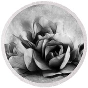 Black And White Is Beautiful Round Beach Towel