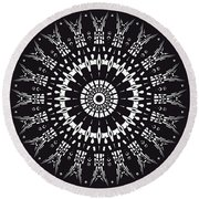 Black And White Mandala No. 1 Round Beach Towel