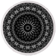 Black And White Mandala No. 2 Round Beach Towel