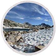 Black Bear Lake Camp - Sierra Round Beach Towel