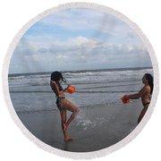 Black Bikinis 62 Round Beach Towel