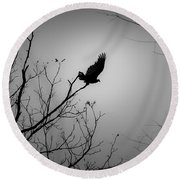 Black Buzzard 1 Round Beach Towel