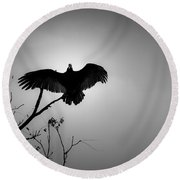 Black Buzzard 5 Round Beach Towel