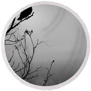 Black Buzzard 7 Round Beach Towel