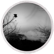 Black Buzzard 8 Round Beach Towel