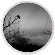 Black Buzzard 9 Round Beach Towel