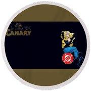 Black Canary Round Beach Towel