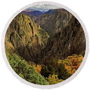 Black Canyon Of The Gunnison - Colorful Colorado - Landscape Round Beach Towel
