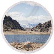 Black Canyon View - Pathfinder Reservoir - Wyoming Round Beach Towel