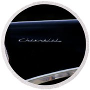 Black Chevy Round Beach Towel