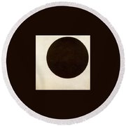 Black Circle Kazimir Malevich Round Beach Towel