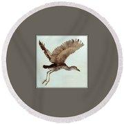 Black Crowned Night Heron 3junenile Roger Bansemer Round Beach Towel