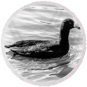 Black Duck Round Beach Towel