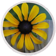 Black Eye Round Beach Towel