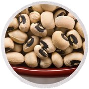 Black Eyed Peas Round Beach Towel