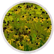 Black Eyed Susan Work Number 21 Round Beach Towel