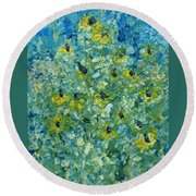 Black-eyed Susans Round Beach Towel