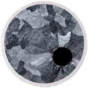 Black Hole - Galvanized Steel - Abstract Round Beach Towel