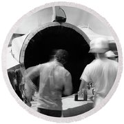 Black Hole One Round Beach Towel
