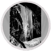 Black Ice #2 Round Beach Towel