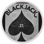 Black Jack  Round Beach Towel