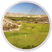 Black Jack's Crossing Golf Course Hole 12 Round Beach Towel