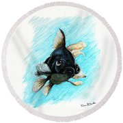 Black Moor Round Beach Towel