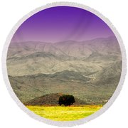 Black Mountains Az Round Beach Towel