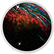 Black Out Round Beach Towel