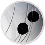 Black Pearls Round Beach Towel