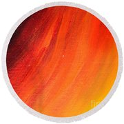Black-red-yellow Abstract Round Beach Towel