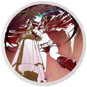 Black Rock Shooter Round Beach Towel