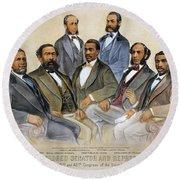 Black Senators, 1872 Round Beach Towel