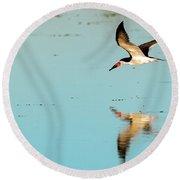 Black Skimmer Round Beach Towel