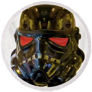 Black Stormtrooper - Pa Round Beach Towel