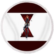 Black Widow Round Beach Towel
