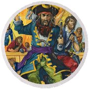 Blackbeard Round Beach Towel