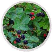 Blackberries 1 Round Beach Towel