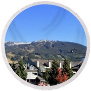 Blackcomb Mountain Round Beach Towel