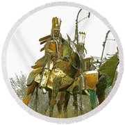 Blackfeet Wariors Round Beach Towel