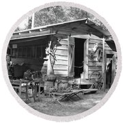 Blacksmith And Tool Shed Round Beach Towel