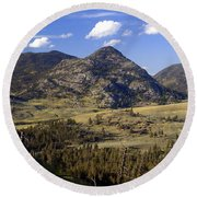 Blacktail Road Landscape 2 Round Beach Towel
