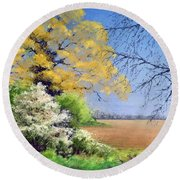 Blackthorn Winter Round Beach Towel
