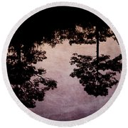 Blackwater Reflection Round Beach Towel