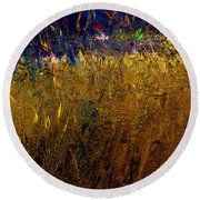 Blades Of Grass Round Beach Towel