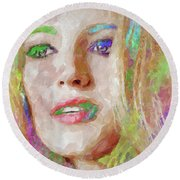 Blake Lively Watercolor Round Beach Towel